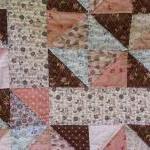 handmade baby quilt modern patchwor..