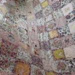 patchwork quilt cottage style shabb..