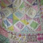Girls Patchwork Quilt Hand..