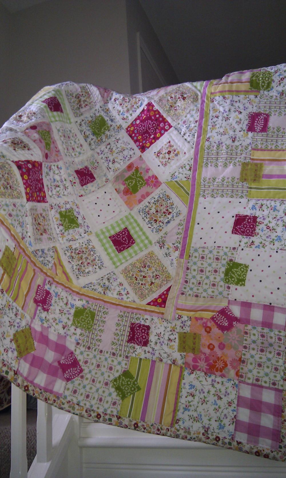 Patchwork quilt lap quilt sweetshop colours girls patchwork quilt wall hanging crib quilt