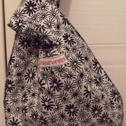 clutch bag handbag reversible bag knitting bag evening bag small tote bag knot bag black and white