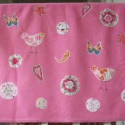 baby girls blanket pink baby blanket baby blanket pink birds butterflies and circle flowers