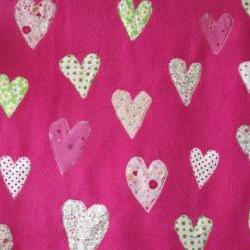 Pink baby blanket pink with hearts crib blanket