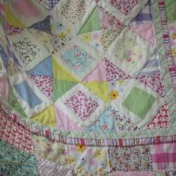 girls patchwork quilt handmade quilt pastel colours quilt baby quilt girls patchwork quilt play mat wall hanging